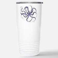 Blue Octopus Stainless Steel Travel Mug