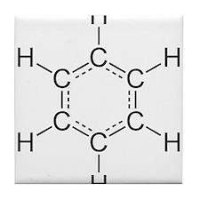 Benzene.png Tile Coaster