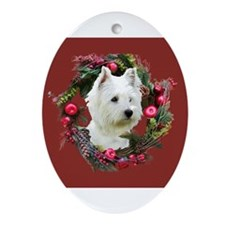 Cute Scottish terrier christmas Ornament (Oval)