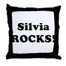 Silvia Rocks! Throw Pillow