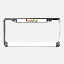 Angelica Christmas License Plate Frame