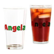 Angela Christmas Drinking Glass