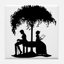 Jane Austen Lovers Tile Coaster
