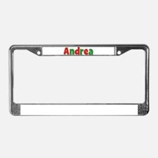 Andrea Christmas License Plate Frame