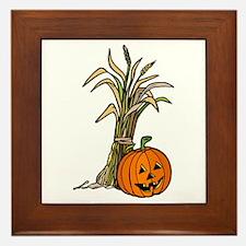 Harvest Jack O' Lantern Framed Tile