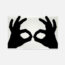 3 Point Goggles Rectangle Magnet
