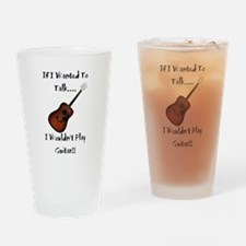 Cute Acoustic guitar Drinking Glass