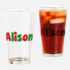 Alison Christmas Drinking Glass