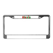 Alexia Christmas License Plate Frame