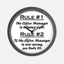Unique Manager Wall Clock