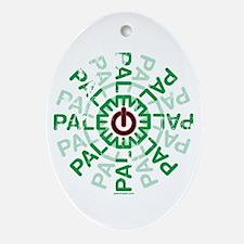 Paleo Power Wheel Ornament (Oval)