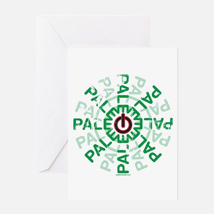 Paleo Power Wheel Greeting Card