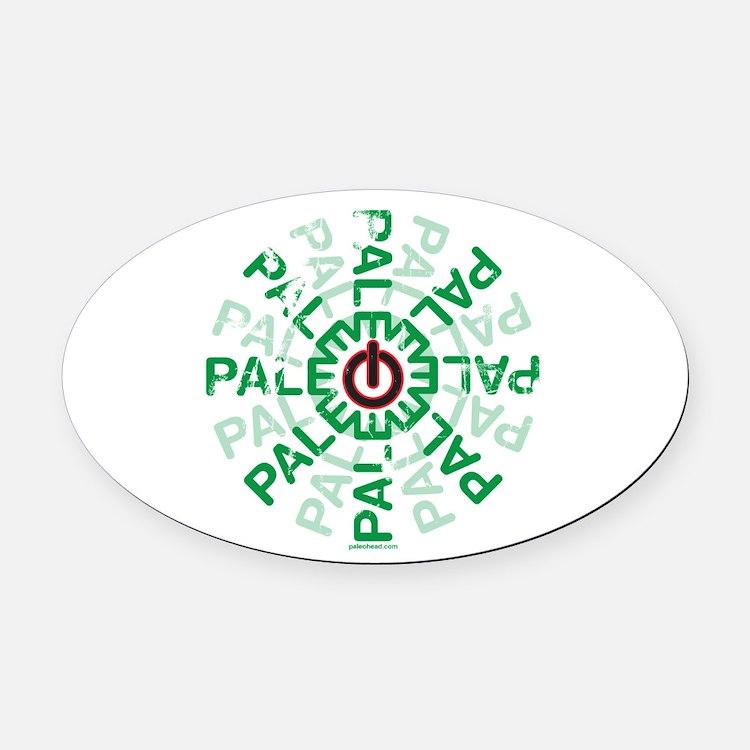 Paleo Power Wheel Oval Car Magnet