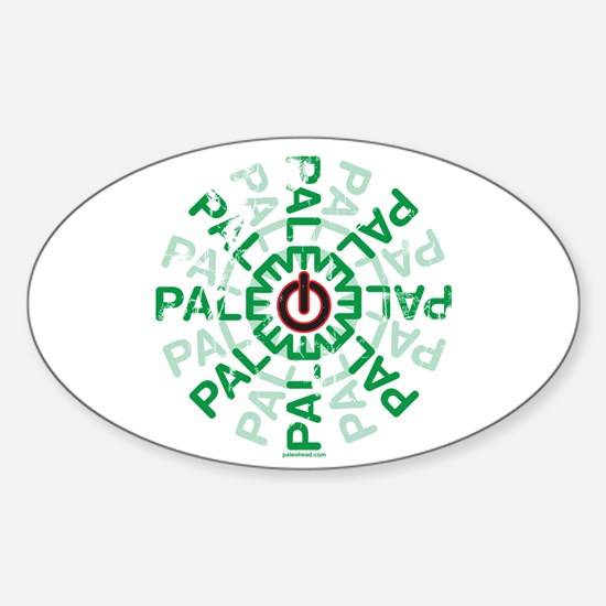Paleo Power Wheel Sticker (Oval)