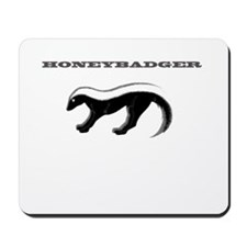 HONEYBADGER GREY Mousepad