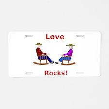 Love Rocks Aluminum License Plate