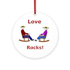 Love Rocks Ornament (Round)