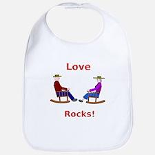 Love Rocks Bib