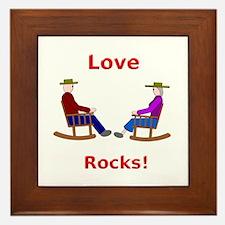 Love Rocks Framed Tile