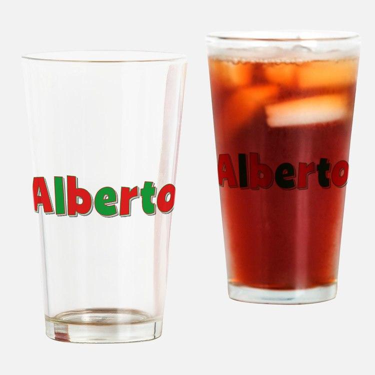 Alberto Christmas Drinking Glass