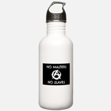 No Masters No Slaves Water Bottle