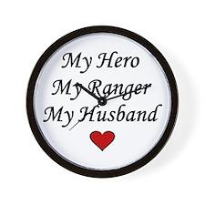 My Hero My Ranger My Husband - Army Wall Clock