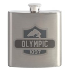 Olympic Nature Badge Flask