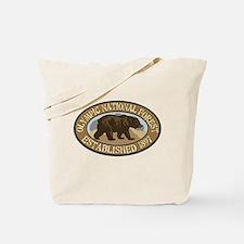 Olympic Brown Bear Badge Tote Bag
