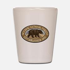 Olympic Brown Bear Badge Shot Glass