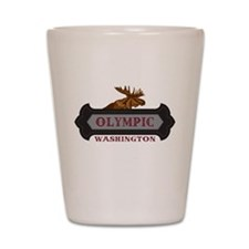 Olympic Fleur de Moose Shot Glass