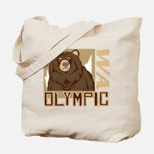 Olympic Grumpy Grizzly Tote Bag
