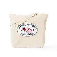 Olympic Moose Badge Tote Bag