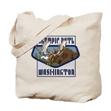 Olympic Mountaintop Moose Tote Bag