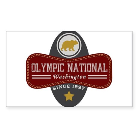 Olympic Natural Marquis Sticker (Rectangle)