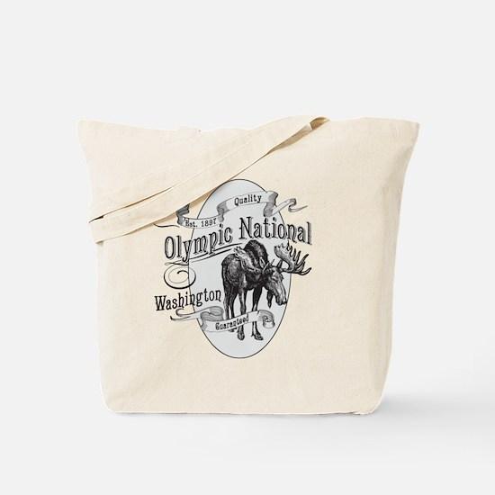 Olympic National Vintage Moose Tote Bag