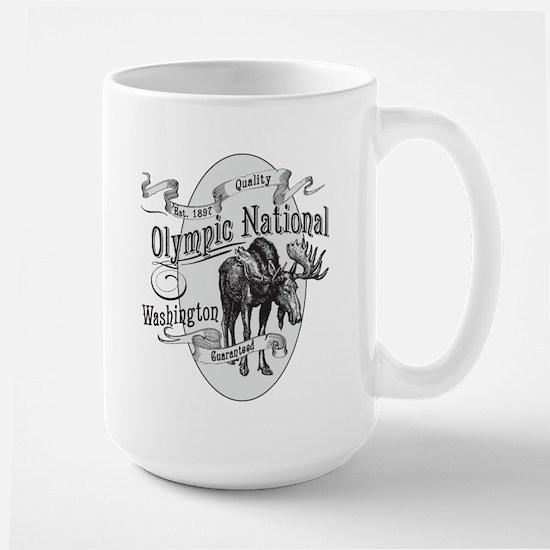 Olympic National Vintage Moose Large Mug