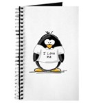 I Love Me penguin Journal