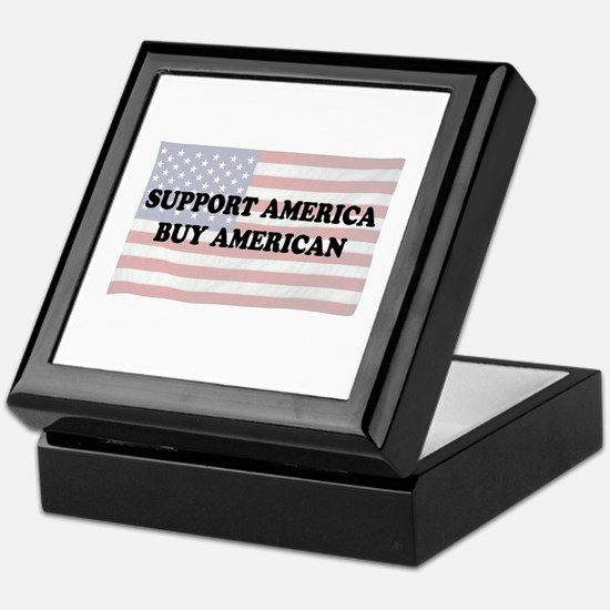 Support America - Buy American Keepsake Box