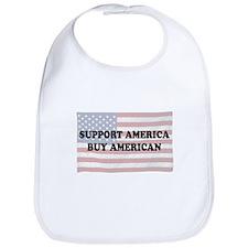 Support America - Buy American Bib