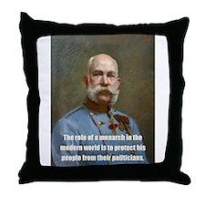 Franz Josef I Throw Pillow