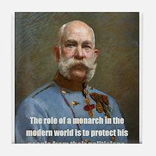 Franz Josef I Tile Coaster
