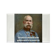 Franz Josef I Rectangle Magnet