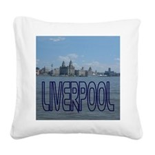 Scenic Liverpool (Blue) Square Canvas Pillow