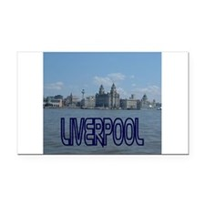 Scenic Liverpool (Blue) Rectangle Car Magnet