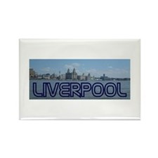 Scenic Liverpool (Blue) Rectangle Magnet (100 pack