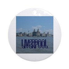 Scenic Liverpool (Blue) Ornament (Round)