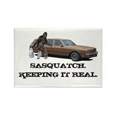 Sasquatch Keeping It Real Rectangle Magnet