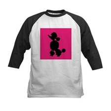 Pink and Black Poodle Silhouette Tee
