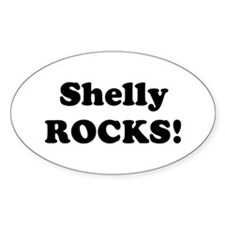 Shelly Rocks! Oval Decal