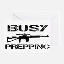 Busy Prepping Gun Greeting Card